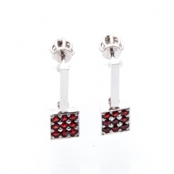 Czech Garnet Earrings model nr. 0070