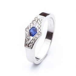 Ring with Blue Sapphire model nr. 0101